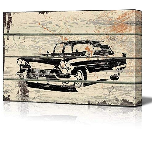 Classic Car Wall Art With Most Recently Released Classic Car Wall Art: Amazon (View 9 of 15)