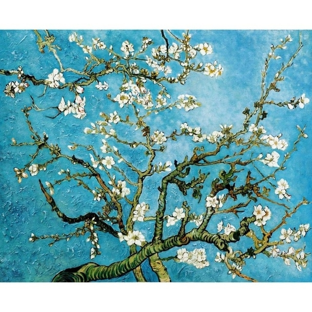 Classic Vincent Van Gogh Canvas Oil Painting Landscape Pictures In Well Known Almond Blossoms Vincent Van Gogh Wall Art (View 9 of 15)