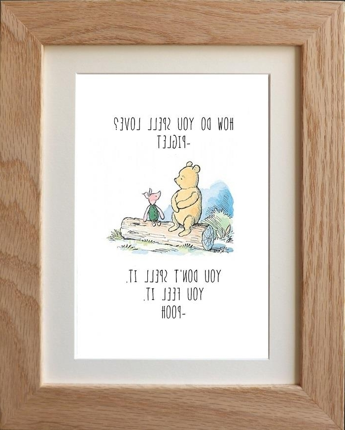 Classic Winnie The Pooh Quote Prints Wall Art X 4 Designs Baby With Famous Winnie The Pooh Nursery Quotes Wall Art (View 12 of 15)