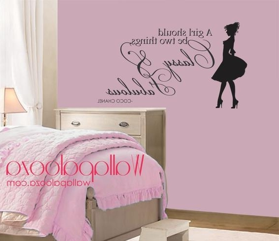 Classy And Fabulous Wall Decal Coco Chanel Wall Quote (View 13 of 15)
