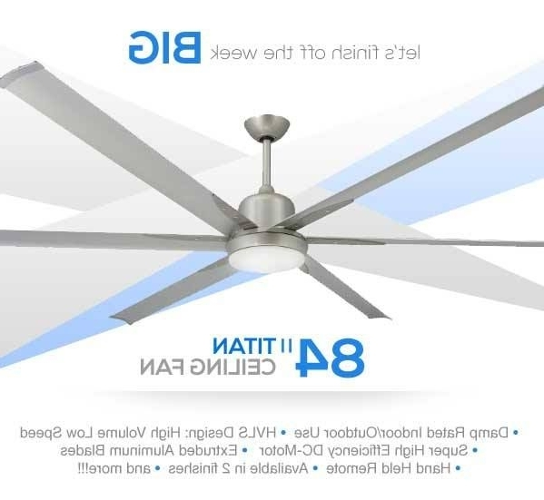 Clean Contemporary Design Large Industrial Ceiling Fan With High Within Recent High Volume Outdoor Ceiling Fans (View 11 of 15)
