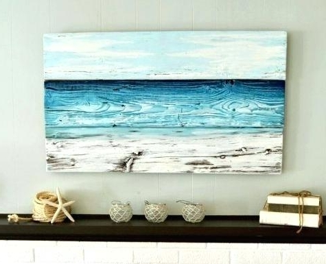 Coastal Wall Art Canvas With Regard To Most Up To Date Large Beach Wall Art Home Decor 1 Piece Canvas Art Prints Ocean Grey (View 9 of 15)