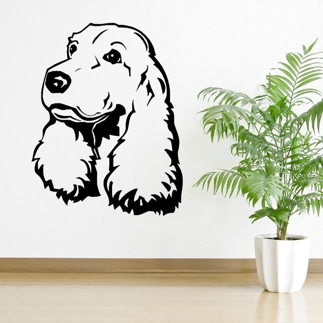 Cocker Spaniel Dog Vinyl Wall Art Room Sticker Decal Animal Themed Throughout Current Animal Wall Art (View 7 of 15)
