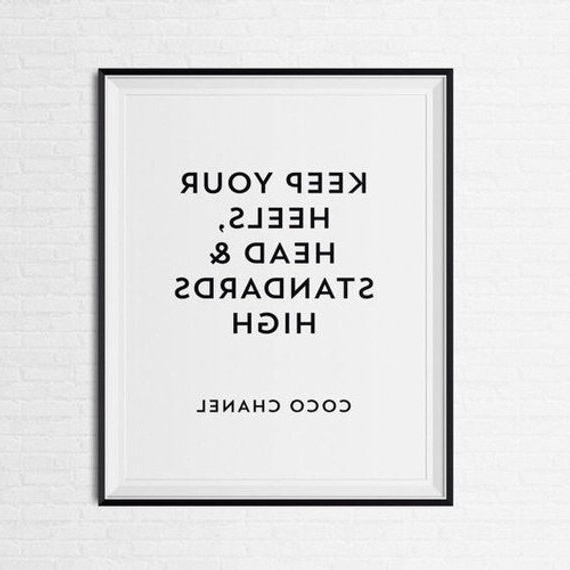 Featured Photo of Coco Chanel Quotes Framed Wall Art
