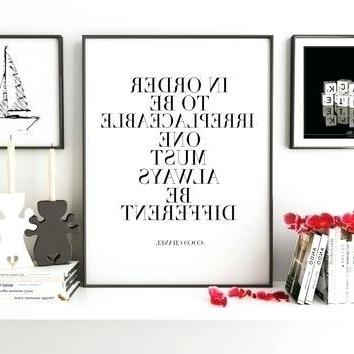 Coco Chanel Quotes Framed Wall Art Printable Quote Kids Room For Well Known Coco Chanel Quotes Framed Wall Art (View 9 of 15)