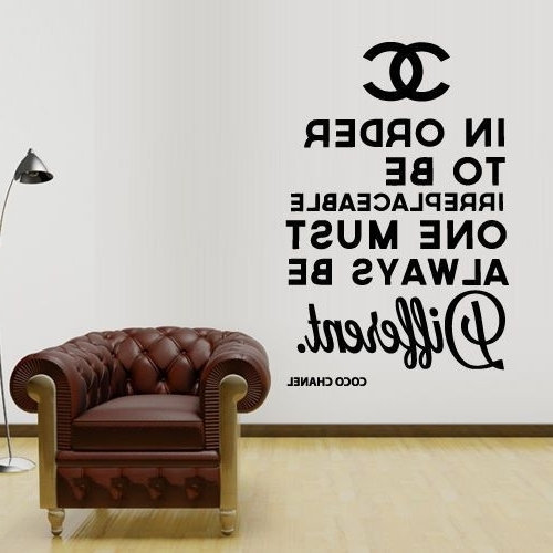 Coco Chanel Wall Decals With Regard To Preferred Wall Decal Design Coco Chanel Logo Paintings Statement Quote Lively (View 8 of 15)