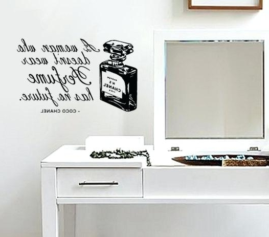 Coco Chanel Wall Decals Within Recent Coco Chanel Wall Stickers Coco Chanel Quotes Wall Decal (View 8 of 15)
