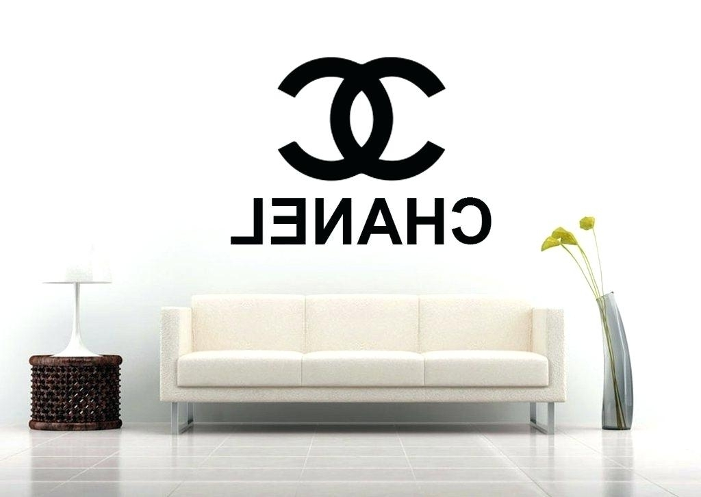 Coco Chanel Wall Stickers Wall Decal Coco Chanel Logo Wall Stickers In Best And Newest Coco Chanel Wall Stickers (View 7 of 15)