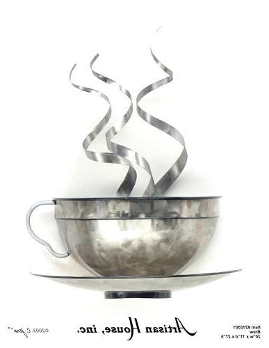 Coffee Metal Wall Art Wall Art Decor Ideas Silver Grey Metal Coffee For Well Known Metal Coffee Cup Wall Art (View 8 of 15)