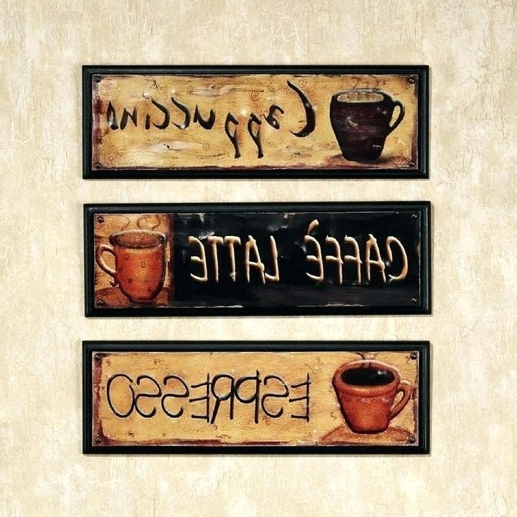 Coffee Themed Kitchen Decor Metal Wall Art Coffee Theme Cafe Latte Inside Well Known Coffee Theme Metal Wall Art (View 8 of 15)