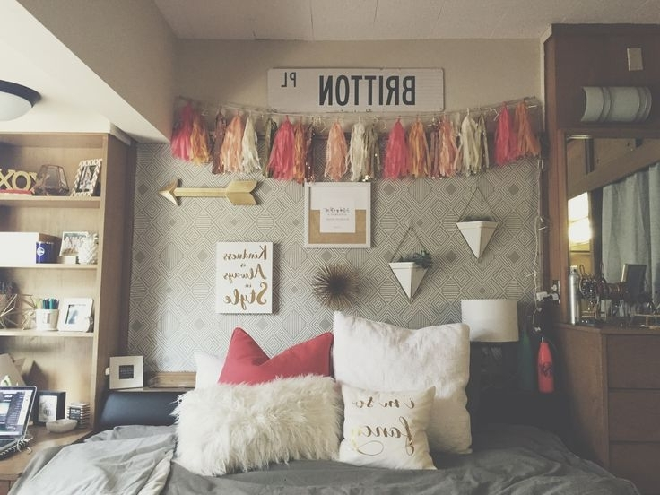College Dorm Wall Art Within Most Current Dorm Room Wall Dec Cute Dorm Wall Decoration Ideas Wall Art And (View 14 of 15)