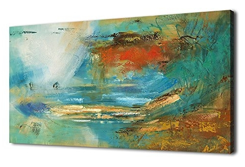 Colorful Abstract Wall Art Inside Current Artewoods Colorful Abstract Canvas Wall Art Prints For Home (View 1 of 15)