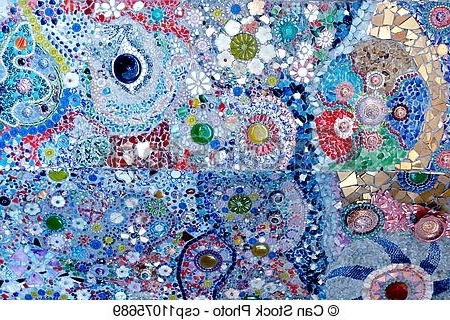 Colorful Glass Mosaic Art And Abstract Wall Backgr (View 8 of 15)
