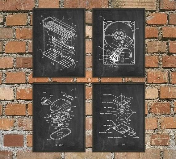 Computer Geek Wall Art Poster Set Of 4 No (View 2 of 15)