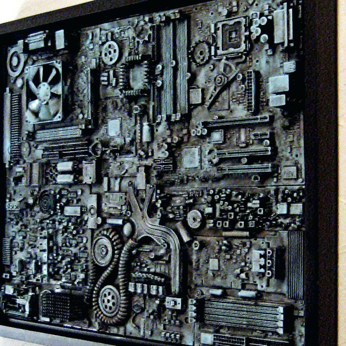 Computer Wall Art With Regard To Popular Industrial Wall Art Industrial Wall Art Big Wall Art Unique Computer (View 7 of 15)