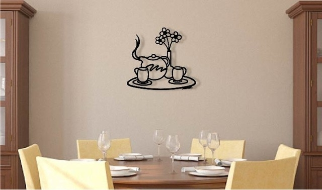 Contemporary 3D Wall Art Within Recent Good Morning – Home Decor – 3D Metal Wall Art – Contemporary – Metal (View 8 of 15)