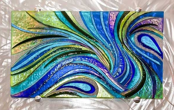 Contemporary Art Glass Glass Sculpture, Fused Glass Wall Art Within Latest Fused Glass Wall Art (View 15 of 15)