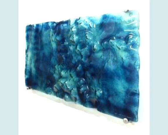 Contemporary Glass Wall Art Large Glass Wall Art Large Abstract Art Pertaining To 2018 Abstract Fused Glass Wall Art (View 4 of 15)