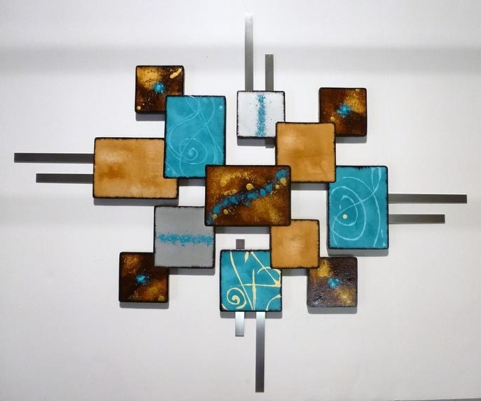 Contemporary Modern, Abstract Art, Wood Anddivaart69 On Zibbet Within Well Known Abstract Art Wall Hangings (View 7 of 15)
