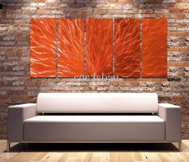 Contemporary Wall Decor Metal Decorating Ideas With Regard To The Intended For Most Up To Date Abstract Orange Wall Art (View 4 of 15)
