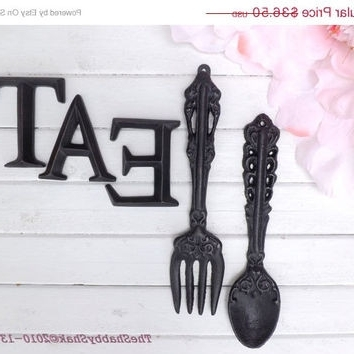 Cool Ideas Utensil Wall Decor Designing Inspiration Fork And Spoon Regarding Most Current Large Utensil Wall Art (View 6 of 15)