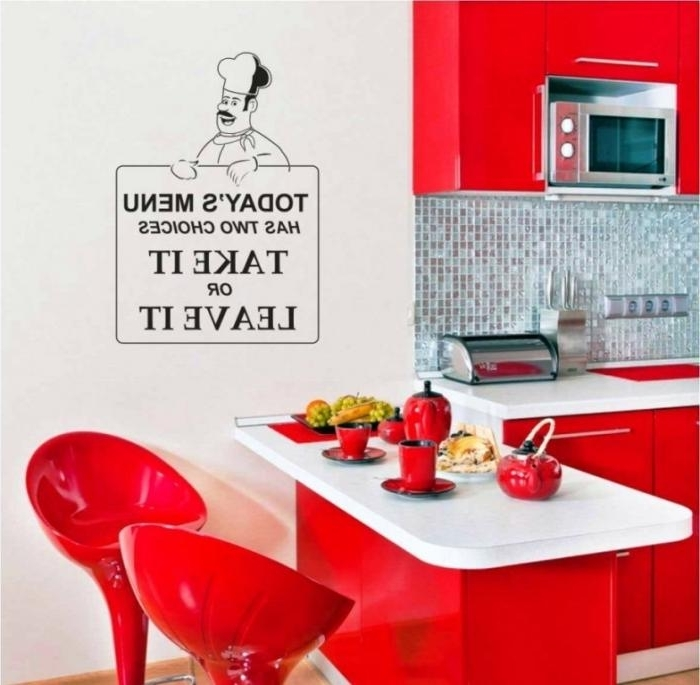 Cool Kitchen Wall Art Intended For Fashionable 15 Wonderful Sticker Ideas For Kitchen Wall Design – Rilane (View 4 of 15)
