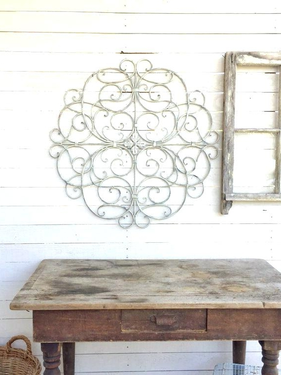 Country Metal Wall Art With Regard To 2017 Country Metal Wall Art Distressed White Metal Wall Art Distressed (View 7 of 15)