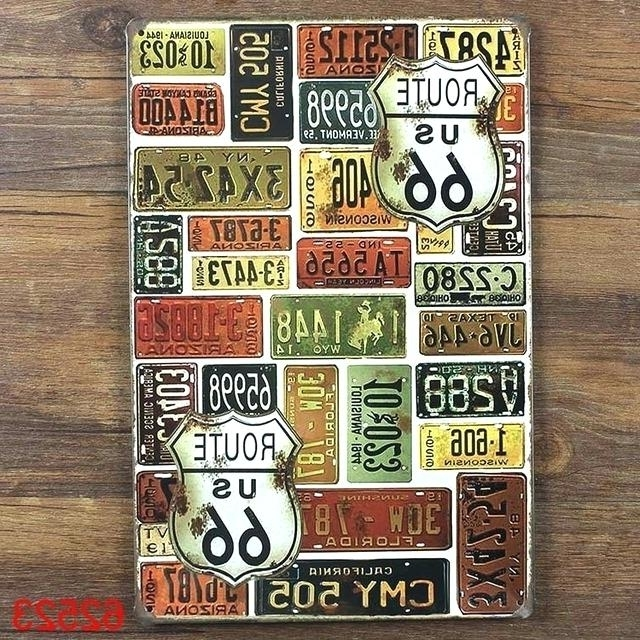 Country Metal Wall Art Within Most Recent Country Style Wall Art Metal Tin Signs Plates Wall Art Craft Iron (View 14 of 15)