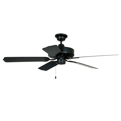 Craftmade Enduro Matte Black 52 Inch Blade Span Outdoor Ceiling Fan Intended For Trendy Craftmade Outdoor Ceiling Fans Craftmade (View 14 of 15)