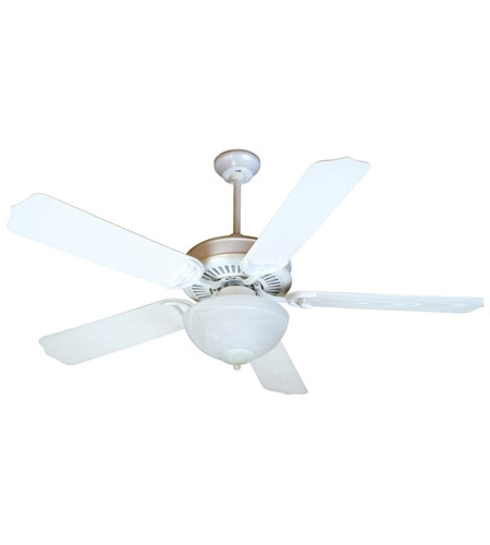 Craftmade K10738 Porch 52 Inch White Outdoor Ceiling Fan Kit In Throughout 2018 White Outdoor Ceiling Fans (View 2 of 15)