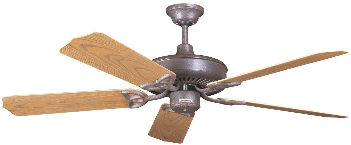 Craftmade Outdoor Ceiling Fans Craftmade Inside Most Up To Date Craftmade Patio 52 Ceiling Fan Model Opxl52Ri In Rustic Iron (View 10 of 15)