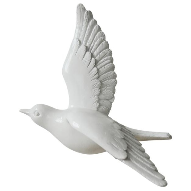 Creative Wall Sticker 3D Resin Bird Wall Hanging – My Candlez In Most Up To Date White Birds 3D Wall Art (View 4 of 15)