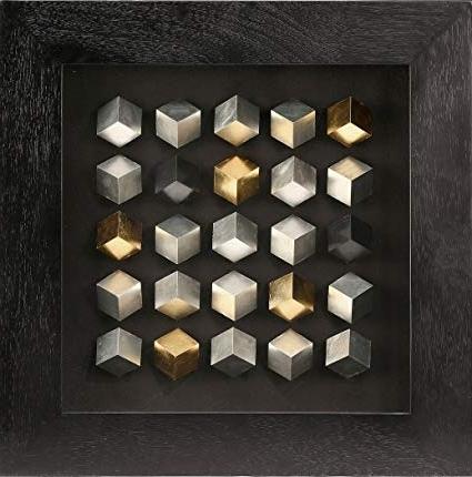Cubes 3D Wall Art In Popular Amazon: Uac Art Modern 3D Shadow Box, Cube 3D Wall Art For Wall (View 1 of 15)