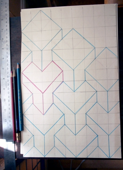 Cubes 3D Wall Art Intended For Trendy Diy Project: 3D Cube Painted Walldonna Yu – Design*sponge (View 2 of 15)