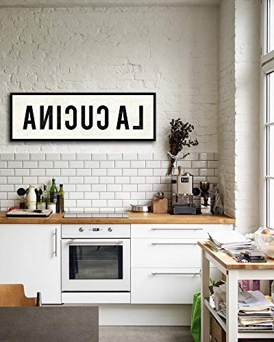 Cucina Wall Art Decors Pertaining To Current Amazon: La Cucina Sign, Kitchen Sign, Canvas Wall Art, Farmhouse (View 4 of 15)