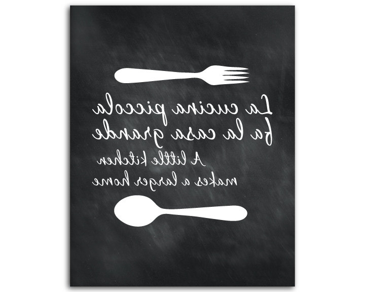 Cucina Wall Art Pertaining To Well Known Wall Art Ideas Design : Sample La Cucina Wall Art Piccola Fork (View 5 of 15)