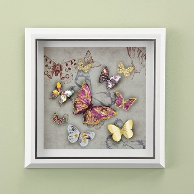 Current 3D Butterfly Framed Wall Art From Collections Etc (View 3 of 15)
