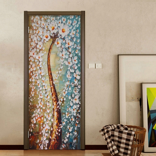Current Abstract Art Wall Murals Pertaining To Modern Abstract Art Wallpaper 3D Stereo Colorful Tree Oil Painting (View 15 of 15)