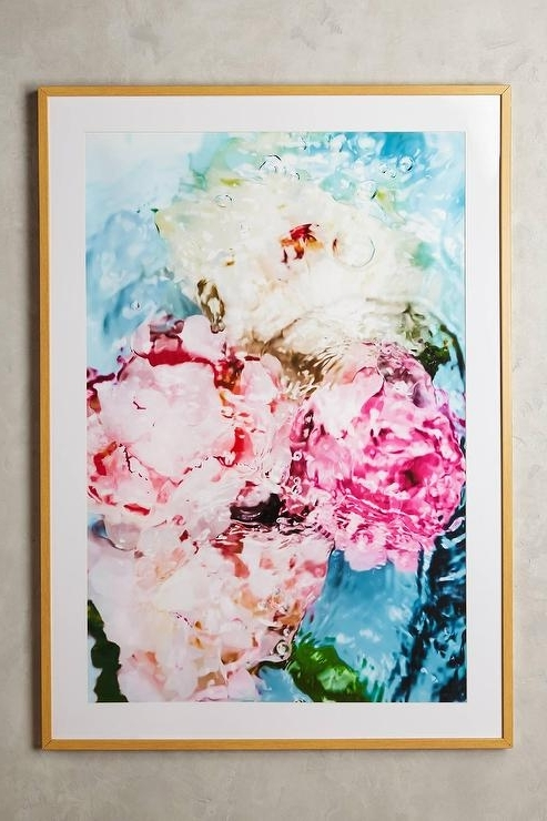 Current Abstract Floral No 5 Wall Art For Abstract Flower Wall Art (View 13 of 15)