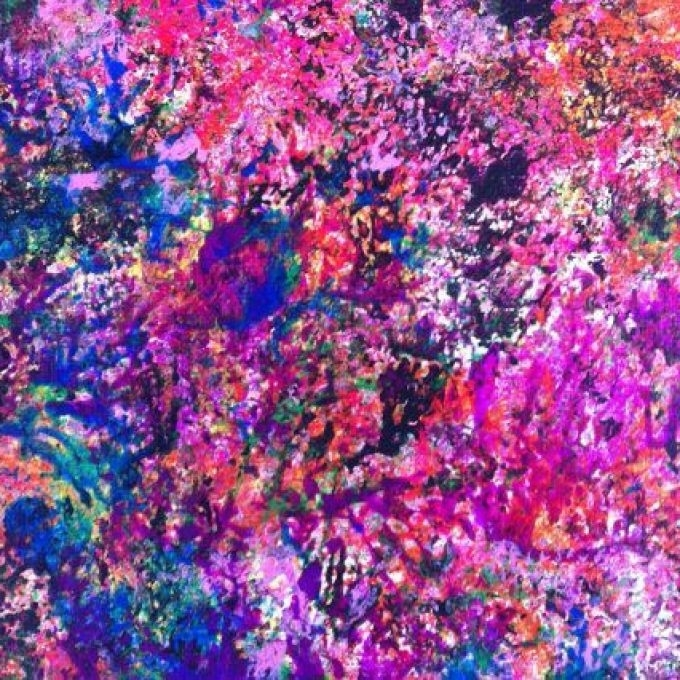 Current Abstract Painting Modern Wall Art Pink Abstract Art Neon, Pink Regarding Abstract Neon Wall Art (View 8 of 15)