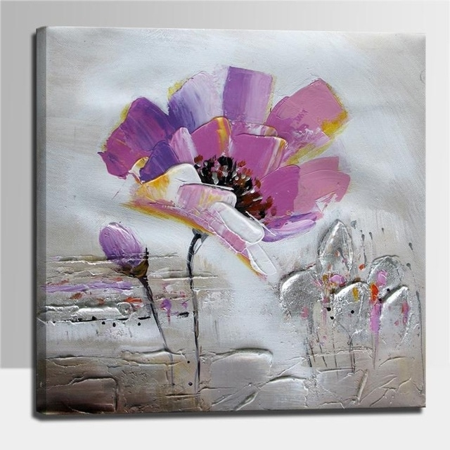 Current Aliexpress : Buy Flower Painting Together With Palette Knife Intended For Abstract Flower Wall Art (View 12 of 15)