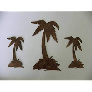 Current Amazon: Palm Tree Set Of 3 Metal Wall Art Decor: Home & Kitchen In Palm Tree Metal Art (View 5 of 15)