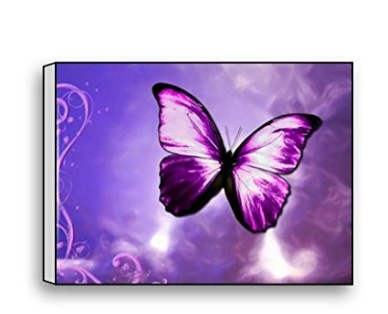 Current Amazon: Purple Butterfly Canvas Prints For Modern Wall Art For Regarding Butterfly Canvas Wall Art (View 5 of 15)