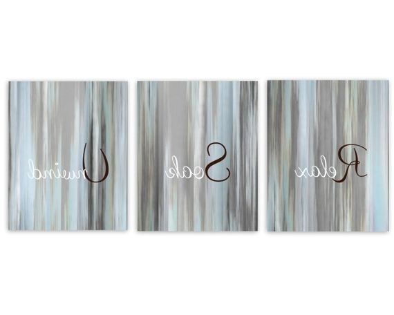 Featured Photo of Abstract Wall Art For Bathroom