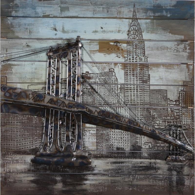 Current Brooklyn Bridge 3D Metal Wall Art Regarding Brooklyn Bridge Metal Wall Art (View 4 of 15)