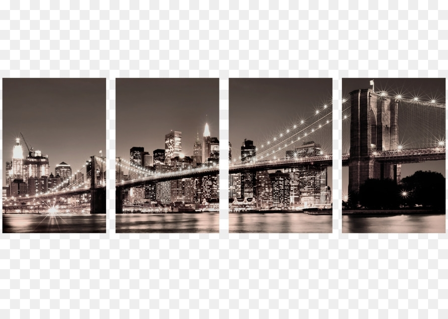 Current Brooklyn Bridge Paper Painting Wall Decal – Modern Png Download Regarding Brooklyn Bridge Wall Decals (View 4 of 15)