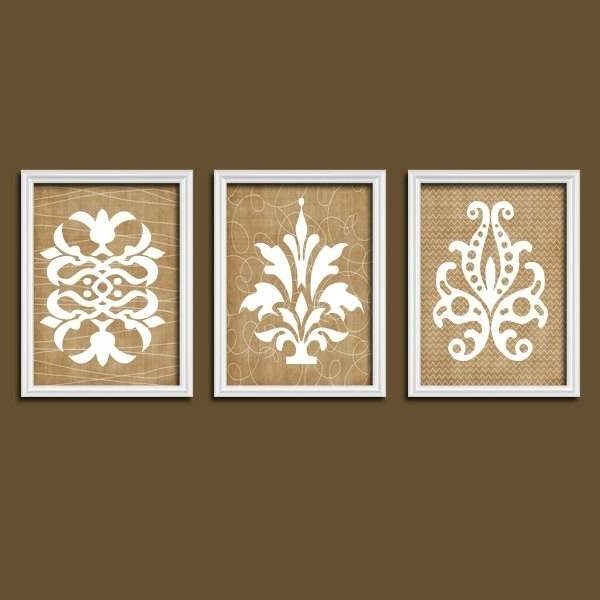 Current Country Wall Decor Lovely Damask Wall Art Canvas Or Prints French Pertaining To French Country Wall Art (View 10 of 15)