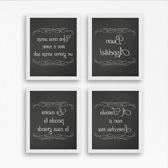 Current Cucina Wall Art Decors With Italian Wall Art Kitchen Decor Wall Hangings Italian Wall (View 7 of 15)