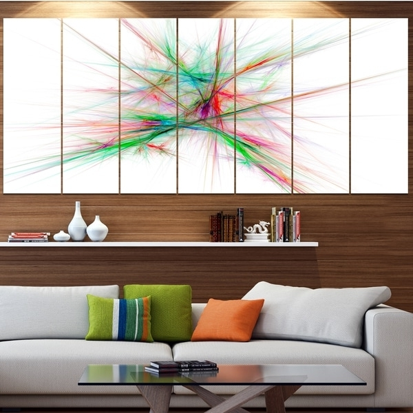 Current Designart 'blue Red Spectrum Of Light' Abstract Wall Art On Canvas In Light Abstract Wall Art (View 2 of 15)