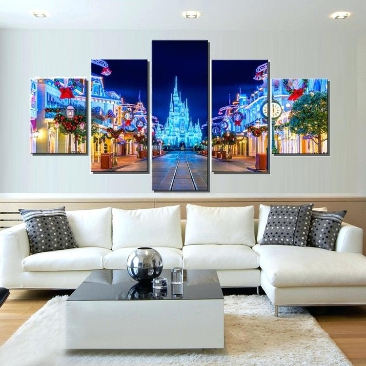 Current Disney Canvas Wall Art For Disney Canvas Wall Art Balloonon Frozen 4 Pack 570X428 Arresting (View 3 of 15)